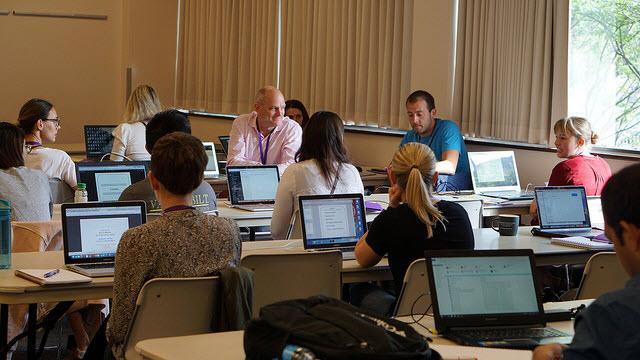 Summer Institutes classroom discussion