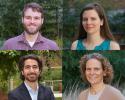 Photos of four Biostat award winners